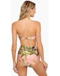 Adriana Degreas - Toucan High Waisted Scrunch Bikini Bottom - Rose Salmon - Lyst