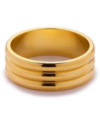 Eklexic - Gold Triple Domed Ring - Lyst