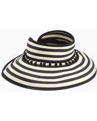 4be027e5e6f Hot L Space - Lewis Stripe Roll Up Hat - Black - Lyst