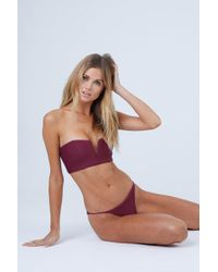 54038af7219 Out From Under Maroon Strappy Back High-waisted Bikini Bottoms - Lyst