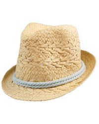 Bikini.com - Natural Fedora With Rope Accent - Lyst
