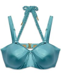 Marlies Dekkers - Holi Glamour Wired Padded Push Up Bikini Top - Aqua Blue - Lyst