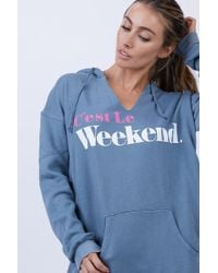 Wildfox - C'est Le Weekend Pierce Hoodie - Vision Blue - Lyst