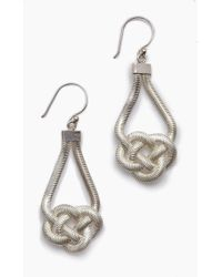 Lena Bernard - Sabha Knotted Silver Fishtail Chain Dangle Earrings - Lyst