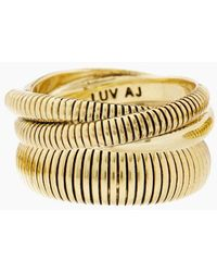 Luv Aj - Snake Chain Cigar Ring Set - Gold - Lyst