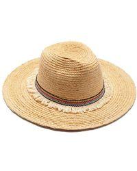 Hat Attack Raffia Braid Continental Straw Sun Hat - Natural