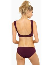 Beth Richards - Naomi Low Rise Bikini Bottom - Port - Lyst