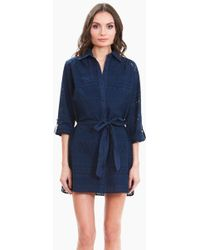 Amita Naithani - Signature Eyelet Big Shirt Dress - Blue - Lyst