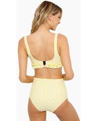 Lisa Marie Fernandez - Colby Ruffle High Waist Bikini Bottom - Yellow - Lyst