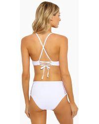 Ella Moss - Sheer Dot High Waisted Bikini Bottom - White - Lyst