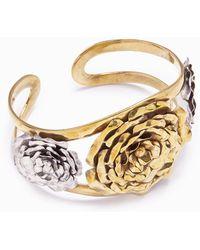 Lena Bernard - 3 Roses Gold Cuff Bracelet - Lyst