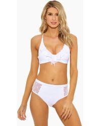 Ella Moss - Sheer Dot Removable Halter Bikini Top - White - Lyst