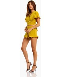 Motel - Jiro High Waist Mini Short - Mustard - Lyst