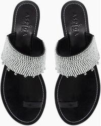 Aspiga - Luna Sandals - Black & Silver - Lyst