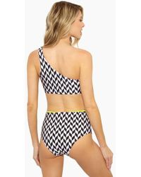 Rosa Cha - Audrey High Waisted Bikini Bottom - Geometric - Lyst
