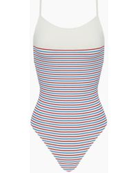 bd8e0be23a1e Solid   Striped - The Chelsea Colour Block High Cut One Piece Swimsuit -  Multi Breton