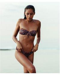 Billabong - Sun Tribe Knot Me Bandeau Bikini Top - Lyst