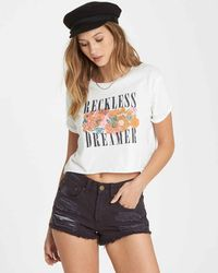 906ac0f42b010c Lyst - Forever 21 Reckless Cropped Tee in Black