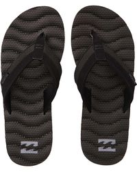 32317d68fb56 Lyst - Billabong Dunes Lux Leather Sandals in Black for Men