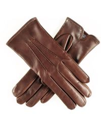 Black.co.uk - Classic Brown Cashmere Lined Leather Gloves - Lyst