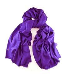 Black.co.uk - Purple Handwoven Cashmere Shawl - Lyst