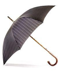 Black.co.uk - Black And White Pin Stripe Luxury Umbrella - Lyst