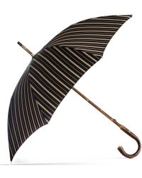 Black.co.uk - Black And Sand Striped Luxury Umbrella - Lyst