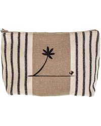 Black.co.uk Deauville Large Linen Make Up Bag - Multicolour
