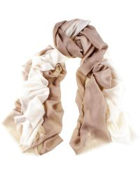 Black.co.uk - Cream To Caramel Cashmere And Silk Wrap - Lyst