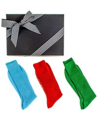 Black.co.uk - Bright Egyptian Cotton Lisle Socks Gift Set - Lyst
