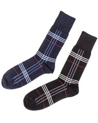Black.co.uk - Set Of Two Egyptian Cotton Tartan Socks - Lyst