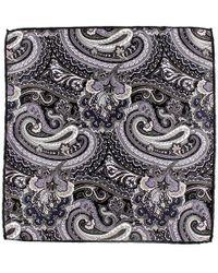Black.co.uk - Idro Italian Silk Satin Paisley Pocket Square - Lyst