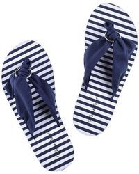 Black.co.uk - Marbella - Navy Flip Flops - Lyst