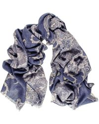 Black.co.uk - Cellini Reversible Wool And Silk Scarf - Lyst