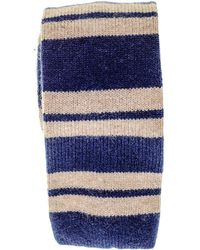 Black.co.uk - Blue And Biscuit Striped Knitted Cashmere Tie - Lyst