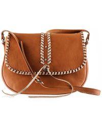 Black.co.uk - Embellished Tan Calf Leather Messenger Bag - Lyst
