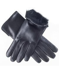 Black.co.uk - Ladies' Rabbit Lined Black Leather Gloves - Lyst