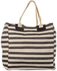 Black.co.uk - Black And Natural Linen Beach Bag - Lyst