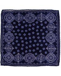 Black.co.uk - Two Tone Blue Cashmere Pocket Square - Lyst