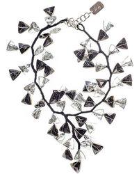Black.co.uk - Black And White Smokey Quartz Crystal Waterfall Necklace - Lyst