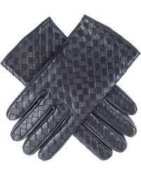 Black.co.uk - Woven Black Leather Gloves - Lyst