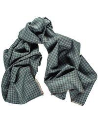 Black.co.uk - Arvo Italian Silk And Wool Houndstooth Scarf - Lyst