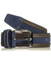 Black.co.uk - Navy And Brown Suede Belt - Lyst