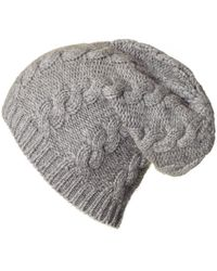 3845cde3e819 Gucci Men s Oversized Cable Knit Beanie In Grey in Gray for Men - Lyst