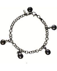 Black.co.uk - Dido Tahitian Black Pearl Charm Bracelet - Lyst