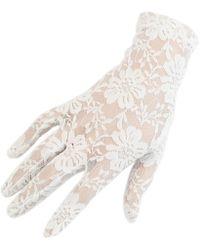 Black.co.uk - Short Ivory Fine Lace Gloves - Lyst
