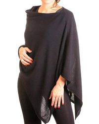 Black.co.uk - Classic Black Knitted Cashmere Poncho - Lyst