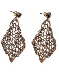 Black.co.uk | Vela Bronze And Agate Earrings | Lyst