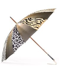 Black.co.uk Animal Print Italian Luxury Double Canopy Umbrella