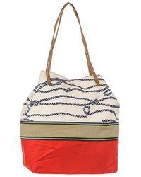 Black.co.uk - Nautical Red And Cream Beach Bag - Lyst